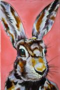"Another Mad Hare Day Sam Fenner Decorative Ceramic Tile 8"" x 12"" Wall Art"